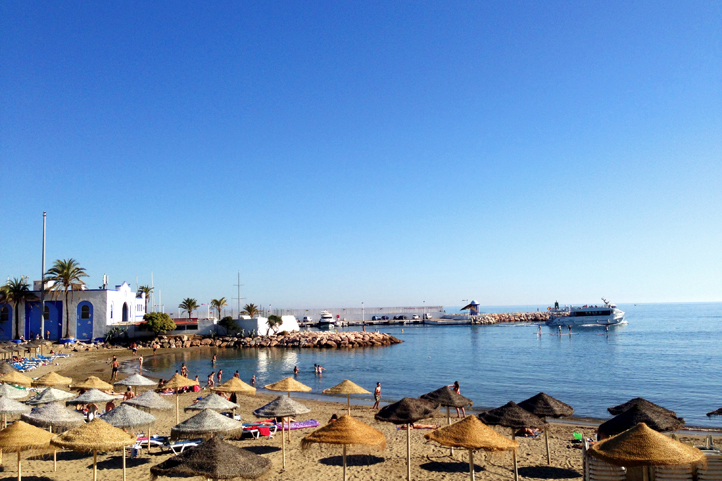 Small beach in Marbella